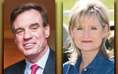 Senator Mark Warner, left, and Senator Cindy Hyde-Smith (Photos courtesy Norpac)