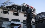 """The home of Palestinian Islamic Jihad senior commander Baha Abu al-Ata was hit by an Israeli air strike in Gaza City on Nov. 12, 2019, killing al-Ata and his wife in what the Israel Defense Forces called a """"surgical strike."""" (Hassan Jedi/Flash90)"""