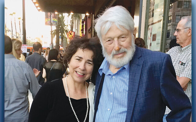 Theodore Bikel and his wife, Aimee Ginsberg Bikel, at the Hollywood Walk of Fame.