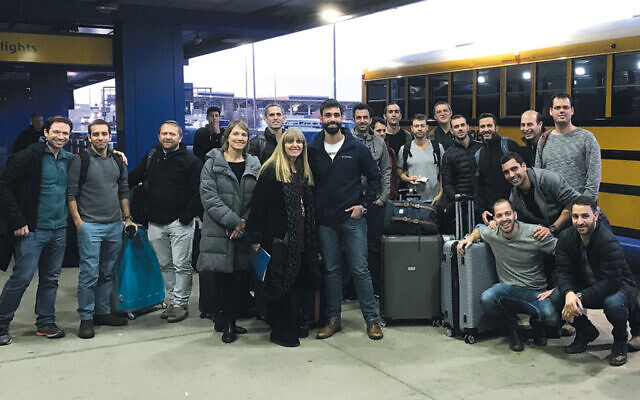 IDF veterans of the Maglan commando unit arrive for their stay in Englewood as part of East Hill Synagogue's Peace of Mind program.