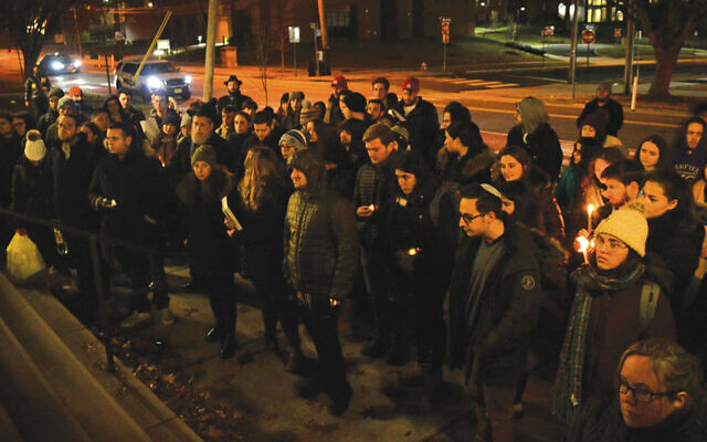 The Rutgers community unites in solidarity. (Courtesy Rutgers Chabad)