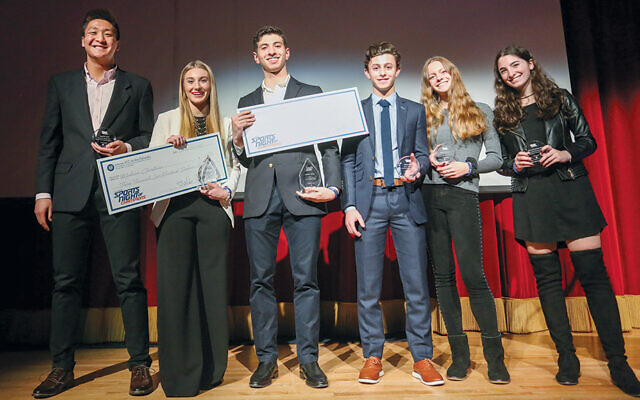 Last year's scholarship recipients, Timothy Park, Madison Christiana, Justin Yehuda, Henri Kolb, Fiona McDermut, and Arielle Rosenblatt. (Courtesy JCCOTP)