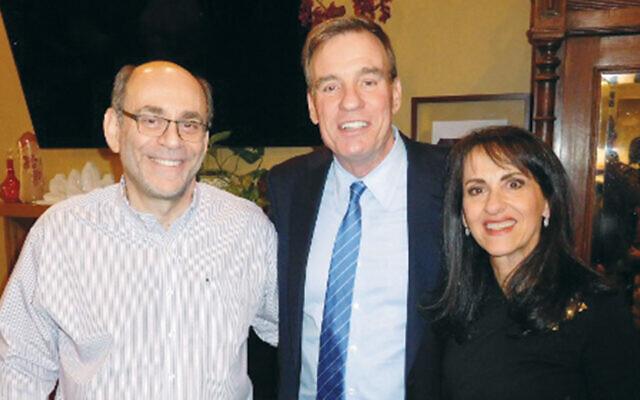 Michael and Debbie Blumenthal flank  Senator Mark Warner. (Photos Courtesy Norpac)