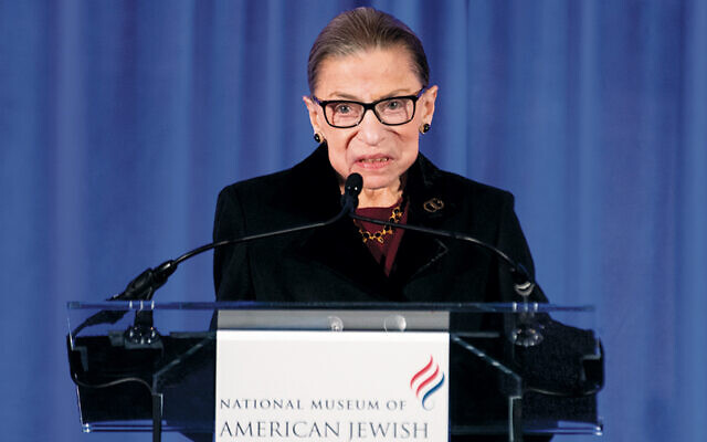 Ruth Bader Ginsberg speaks at the National Museum of Jewish Heritage in Philadelphia. (Jessi Melcer)