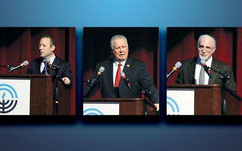 From left, Congressman Josh Gottheimer, Congressman Albio Sires, and Assemblyman Gary Schaer.