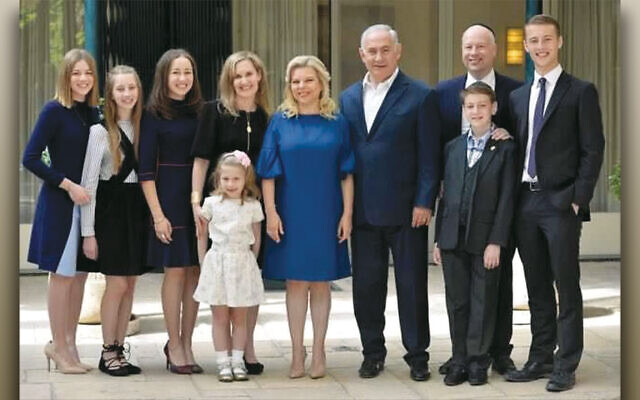 Jason Greenblatt, Dr. Naomi Greenblatt, and their six children spend time with Israeli Prime Minister Benjamin Netanyahu and Sara Netanyahu during Sukkot 2017. (Photos courtesy Jason Greenblatt)