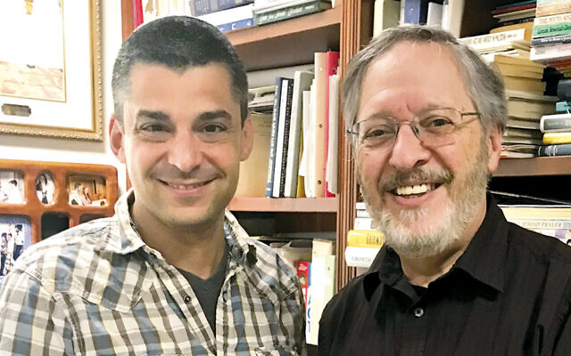 Rabbis Brian Leiken, left, of Temple Beth Sholom and Paul Kurland of the Nanuet Hebrew Center are working to align their shuls under one roof.