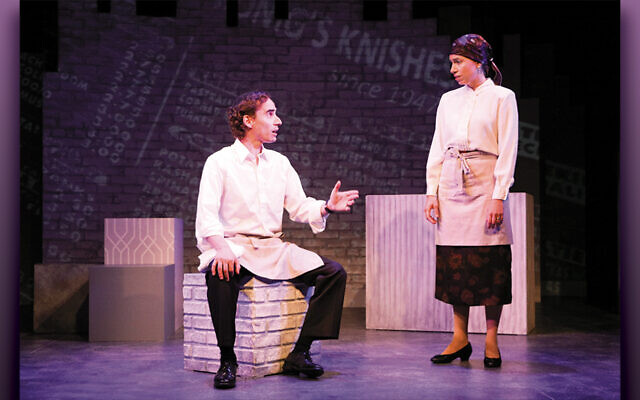 Last summer, Jeremy Rishe played Seth and Lauren Singerman was Rachel in the Penguin Rep production. (Chris Yacopino)