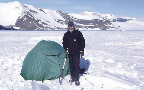 Adam Brown of Englewood spent three months in Antarctica; he slept in this tent. (COURTESY ADAM BROWN)