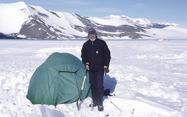 Adam Brown of Englewood spent three months in Antarctica; he slept in this tent. (COURTESY ADAM BROWN)