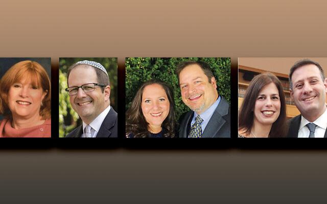 Naomi Mandelbaum, left, Rabbi Dr. Aaron Ross, Rachel and Issar Kieffer, and  Robyn and Shukie Grossman