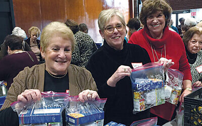 At an earlier snack-packing day. (Courtesy NCJW-BCS)