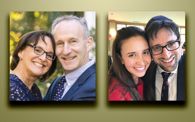 Chana and Dr. Larry Stiefel, left, and Rebecca and Hezzy Jesin (Photos courtesy YIOT)
