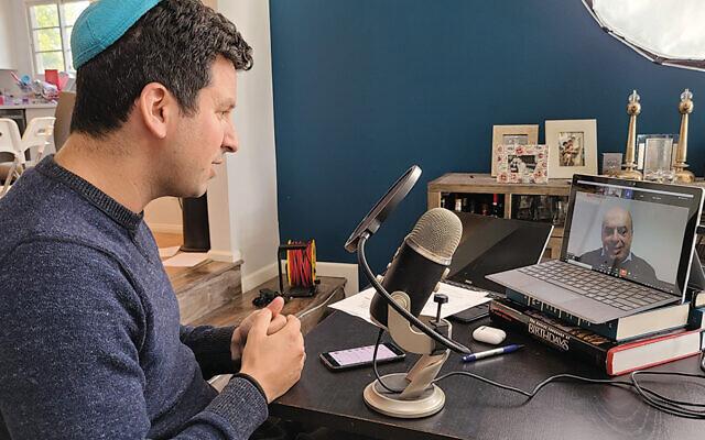 Dr. Noam Weissman interviews Natan Sharansky for OpenDor. (OpenDor)