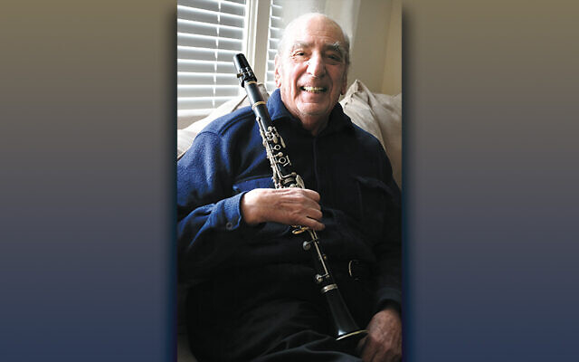 Mitch Weiss at home, with his clarinet.