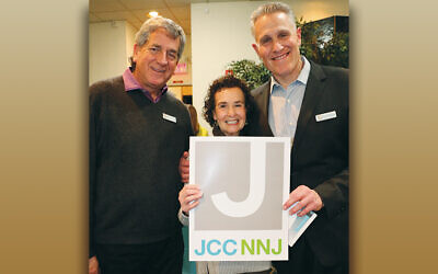 From left, JCCNNJ chair Barry Kissler, event committee member Sharry Friedberg, and JCCNNJ board treasurer Bruce Mactas. (Courtesy JCCNNJ)