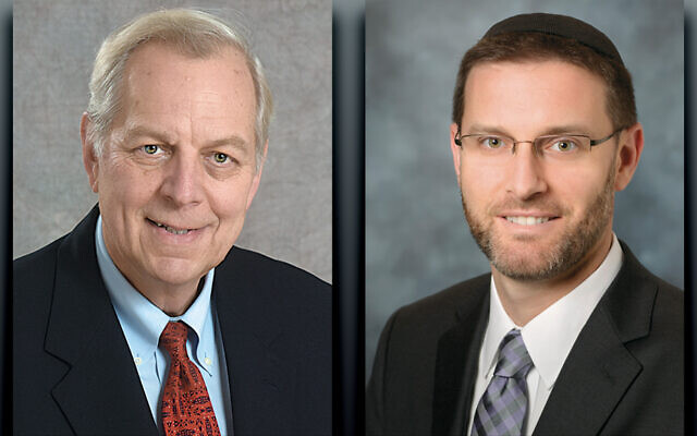 Dr. Kenneth Prager, left, and Rabbi Jason Weiner
