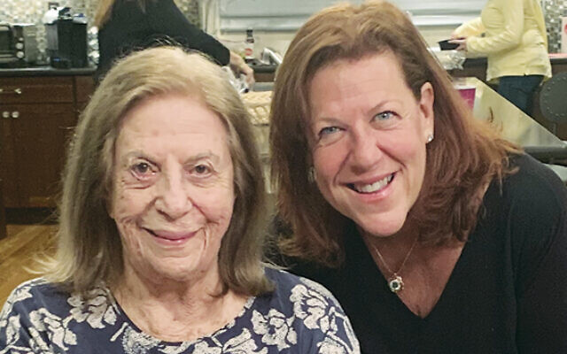 Lucille Steiner and her daughter, Susan Black, in River Vale, in the recent pre-virus past.