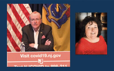 New Jersey's Governor Phil Murphy talked about Janice during his daily covid-19 talk just as her funeral was underway.