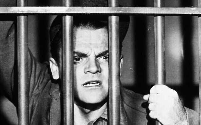 "James Cagney glowered from behind bars in 1938, in ""Angels With Dirty Faces."""