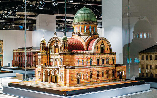 """From the Museum's historic synagogue permanent exhibit, """"Hallelujah! Assemble, Pray, Study — Synagogues Past and Present"""" (Museum of the Jewish People)"""