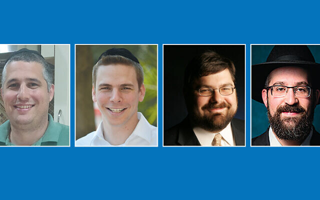 Josh Wertentheil, Rabbi Elyada Goldwicht, Rabbi Daniel Feldman, Rabbi Eli Belizon