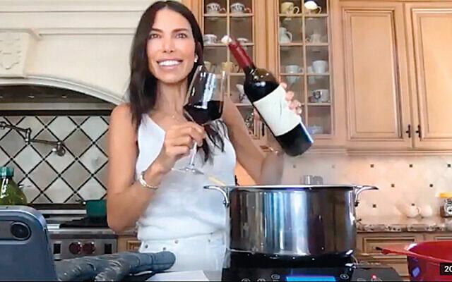 Tanya Zuckerbrot at her FIDF livestream cooking class. (FIDF)