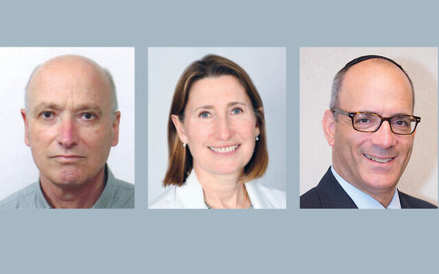 Dr. Arie Eisenman, Dr. Taya Glotzer (Photos courtesy JFNNJ), and Dr. Zvi Marans (Perry Bindelglass)