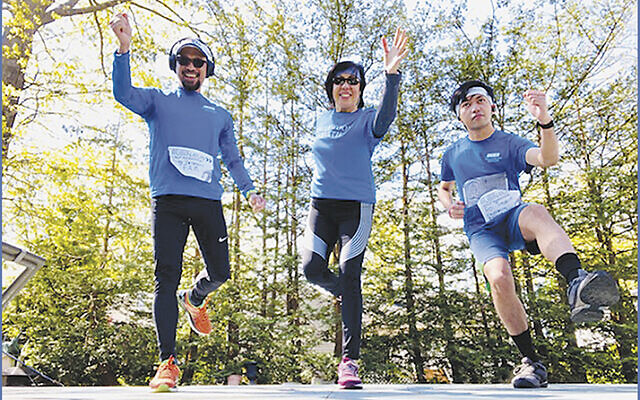 "Englewood Health's ""E Team"" — from left, Romeo Venegas, Gigi Venegas, and Roi Trawon."