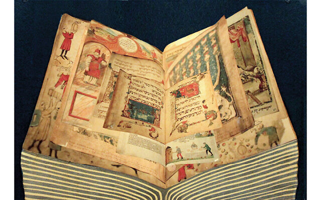 Ms. Stern was inspired by the many illuminated manuscripts in the Israel Museum; here she combines some of what she saw.