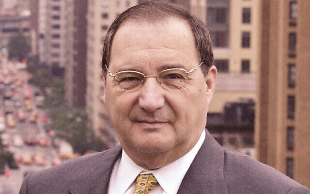 Abe Foxman stands in his ADL office in midtown; he retired five years ago.