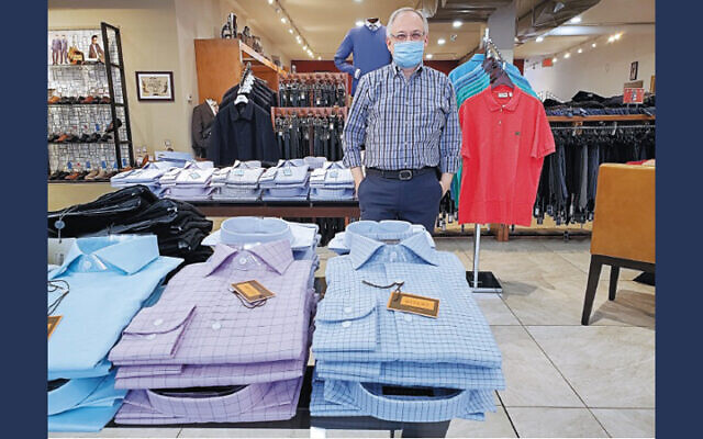 Sam Rappaport of Emporio stands in his Teaneck store.