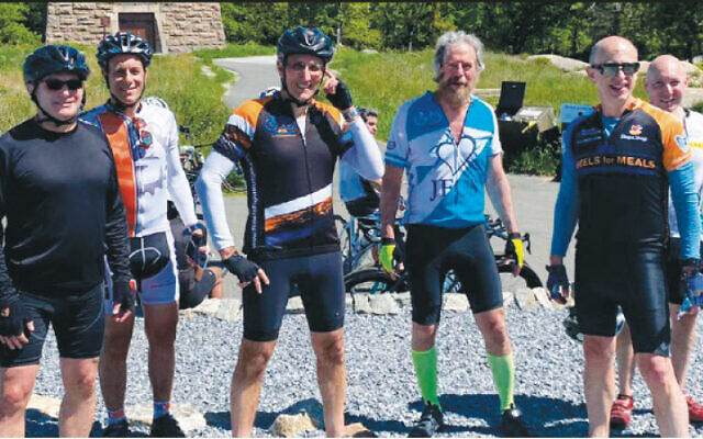 This group biked to Bear Mountain. (JFCS)