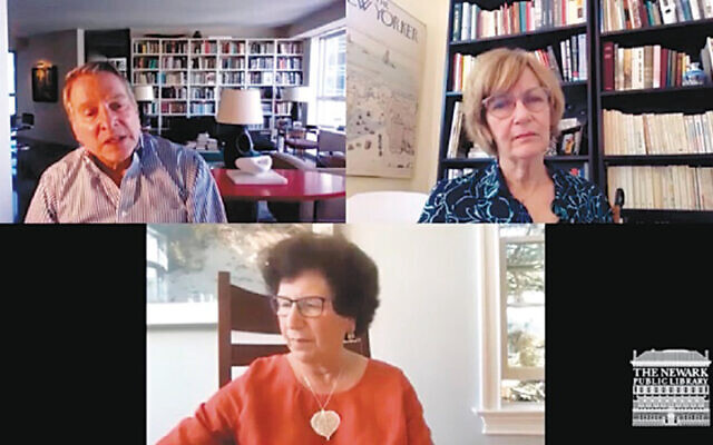 Clockwise from left: Ben Taylor; author, scholar, and literary critic Maureen Corrigan, and NPL trustee Rosemary Steinbaum. (Courtesy NPL)