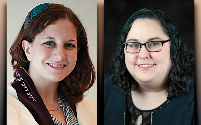 Rabbi Rachel Salston, left, and Cantor Meara Lebovitz