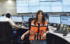 Dr. Sharon Slater sits in the dispatch center of United Hatzalah. (CoronaCare Israel)