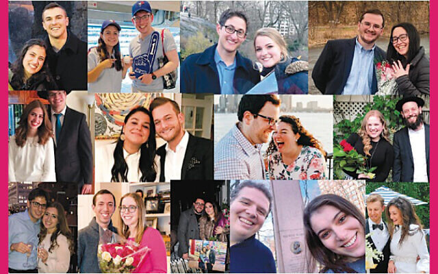 YUConnects assembled this collage of couples it brought together. (YUCONNECTs)