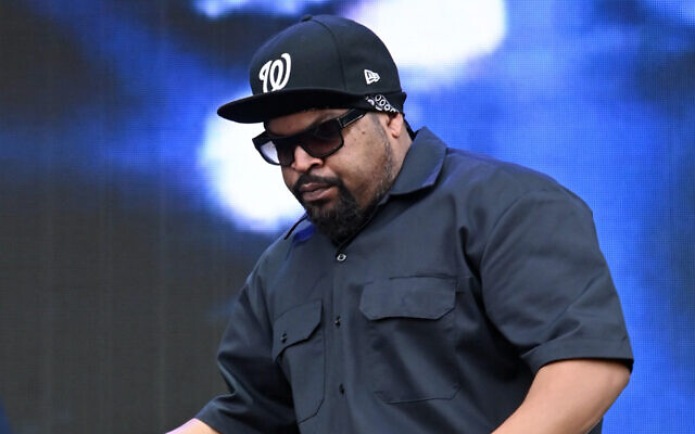 "Ice Cube, shown in 2015, acknowledged his conversation with Jewish leader Mort Klein in a tweet in which he said ""I admire him for the advocacy of his people."" (Michael Buckner/Getty Images for CinemaCon)"