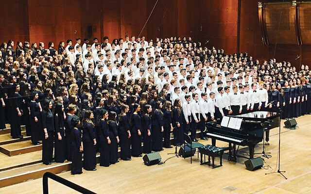 Every year until this one, Hazamir choirs from around the world got together in the spring to sing in Lincoln Center's David Geffen Hall. (Hazamir: The International Jewish Teen Choir)