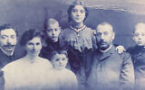 Lev's father, Aaron, second from right, visited the family in Poland before World War II and then returned to Russia. Only Aaron survived the Holocaust.