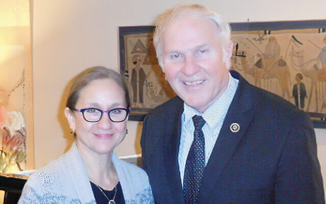 Dr. Laurie Baumel and Rep. Steve Chabot are at a pre-pandemic event. (Courtesy Norpac)