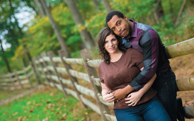 Talia Mizikovsky and Aaron Jordan in their engagement photo.