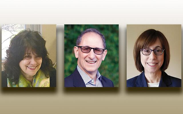 Sandra Leshaw, left, Scott Leibowitz, and Amy Hirsch (Photos courtesy JFCSNNJ)