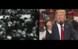 A screengrab from an ad by the Jewish Democratic Council of America released on Sept. 29, 2020. The ad draws parallels between the rise of fascism in Germany and the Trump presidency. (YouTube)