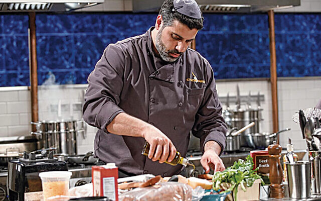 "Shalom Yehudiel is the first chef to cook a kosher meal under rabbinical supervision on ""Chopped."""