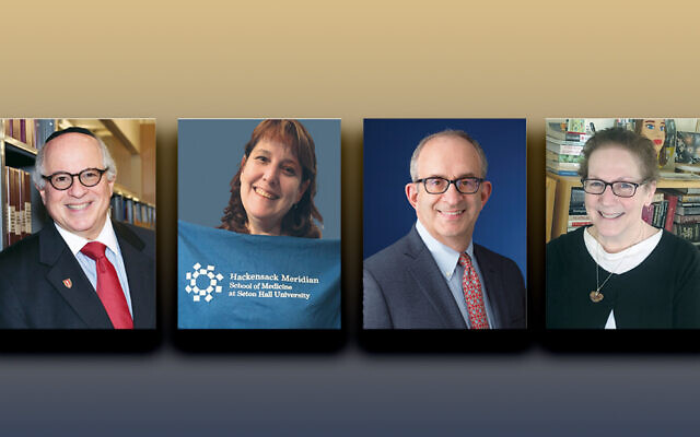 Dr. Steven Huberman, left, Caryn Loffman, Dr. Alan Kadish, and Carol Weinstein