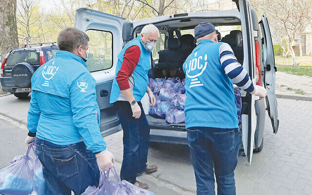 As the pandemic spread, JDC, with support from MetroWest, was able to provide uninterrupted care to poor Jewish elderly in places like Moldavo, where this aid is being distributed.