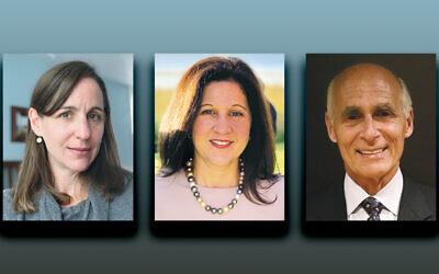 Jessica Mehlman, left, Sheryl Pearlstein, and David Saginaw