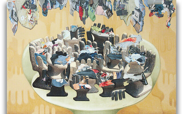This is among the pieces of her work — this time, collages — that Miriam Stern is offering in return for charitable donations.