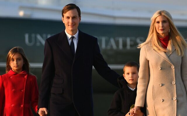 Jared Kushner and Ivanka Trump spotted with their children Arabella and Joseph at Joint Base Andrews in Maryland, Sept. 22, 2020. (Mandel Ngan/AFP via Getty Images)